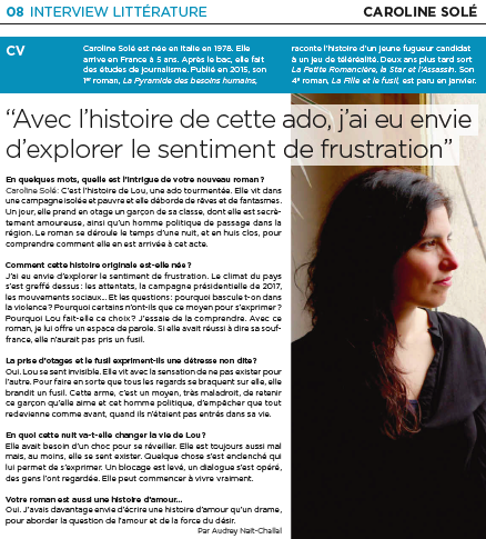 Interview caroline sole